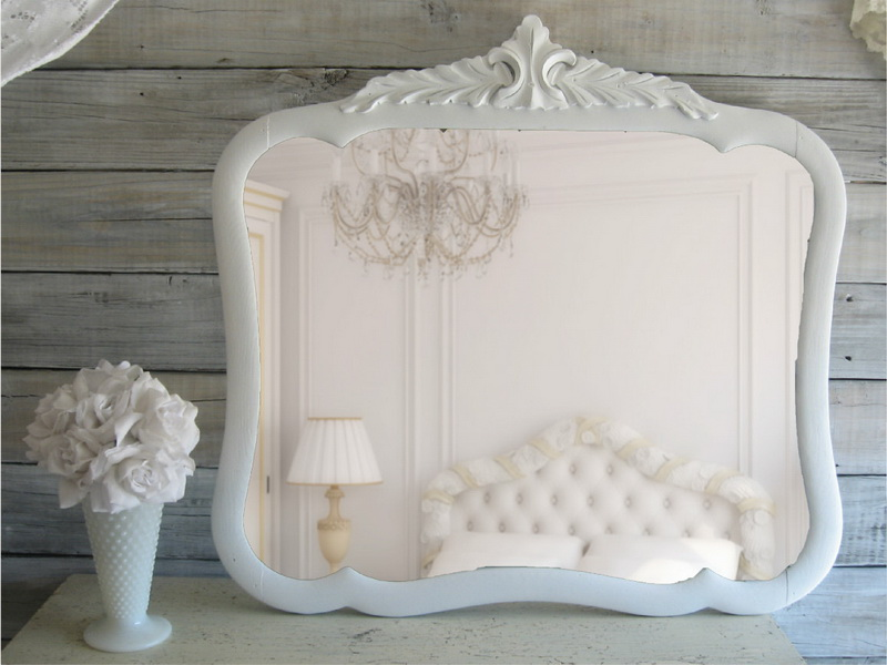 Come decorare gli specchi dell 39 ikea in stile shabby chic for Tenue shabby chic