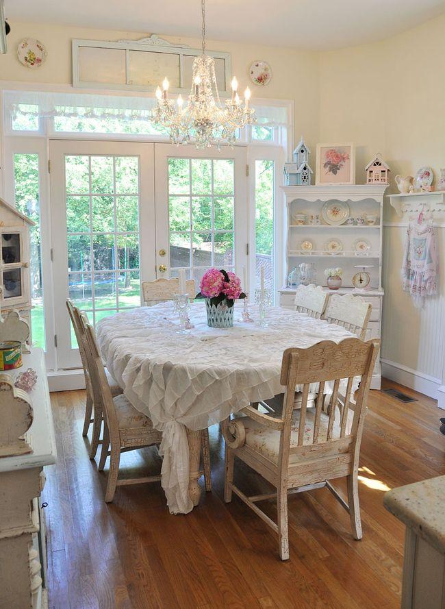 Trasforma la cucina in stile country i 15 consigli di - Colori pareti cucina shabby chic ...