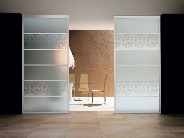 ... gli spazi della tua casa con le pareti divisorie in vetro decorato