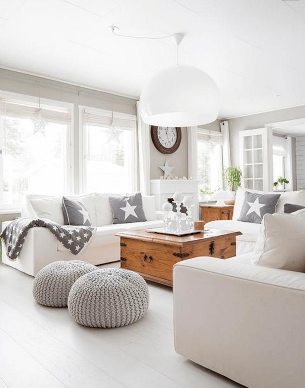 un salotto moderno bianco in stile shabby chic la perfezione