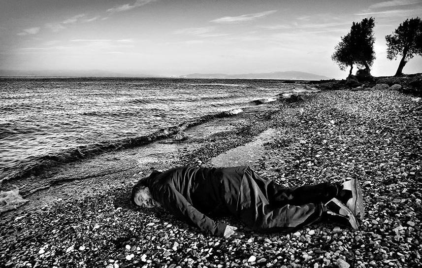 Ai Weiwei Poses As Drowned Syrian Child Alan Kurdi