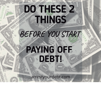 Make sure you do these two things before you start paying down your debt!