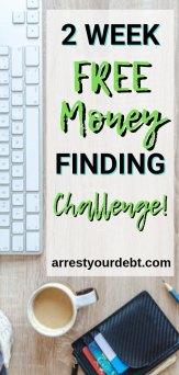 2 week free money finding challenge