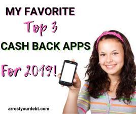 top 3 favorite cash back apps for 2019