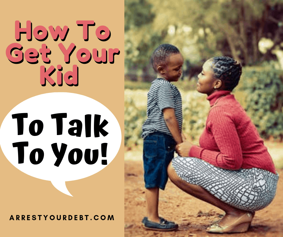 mother talking to child, get your kid to talk to you
