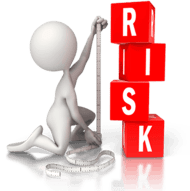 man calculating risk