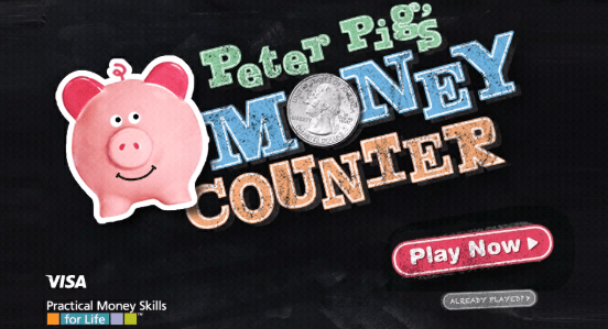 Peter Pigs Money counter online game