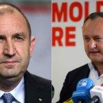 bulgarie-moldavie - © Nicolay Doychinov - Daniel Mihailescu, AFP | Roumen Radev, président élu de la Bulgarie, et son homologue moldave, Igor Dodon.