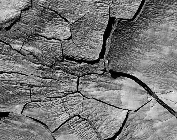 cracks on a dry land