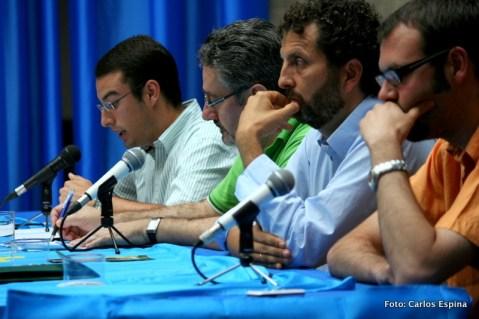 Xuan Pandiella, Humberto Gonzali, Inaciu Iglesias y Javier Cubero