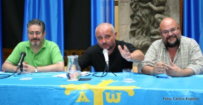Humberto Gonzali, Jesús Parrado y Alberto Álvarez Peña