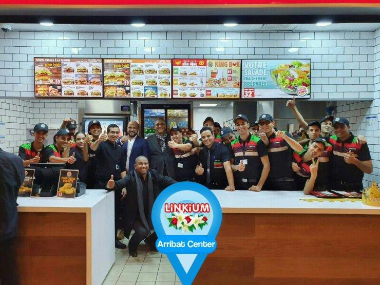 L'équipe de Burger King Arribat Center en image
