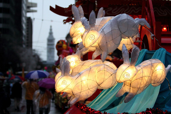 2011 SF Chinese New Years Rabbits On Float