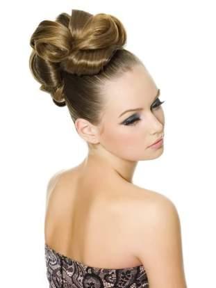 красивые прически для длинных волос - ВЫСОКИЙ ПУЧОК