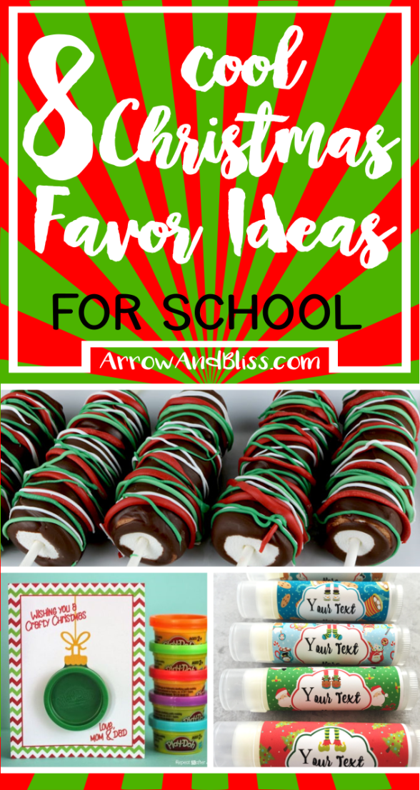 Christmas Favor Ideas for School by Arrow and Bliss PIN IT