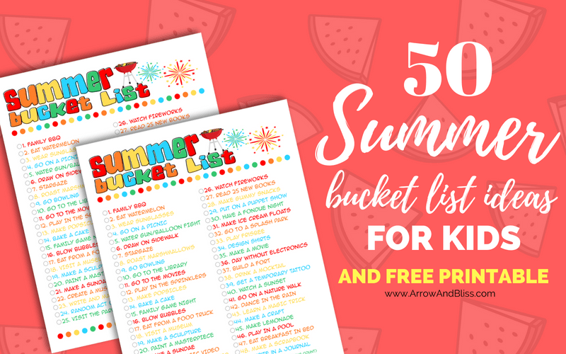 picture relating to Summer Bucket List Printable identified as 50 Summer season Bucket Checklist Guidelines for Youngsters In addition Cost-free Printable