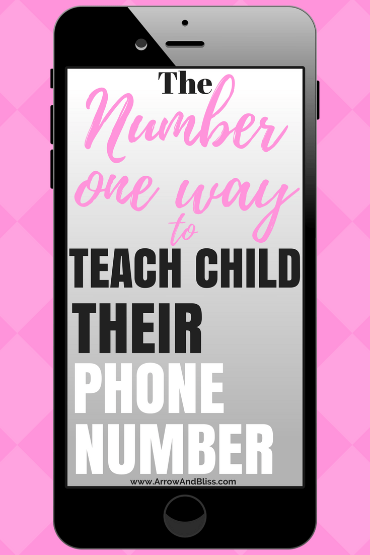 Teach child phone number using cellphone