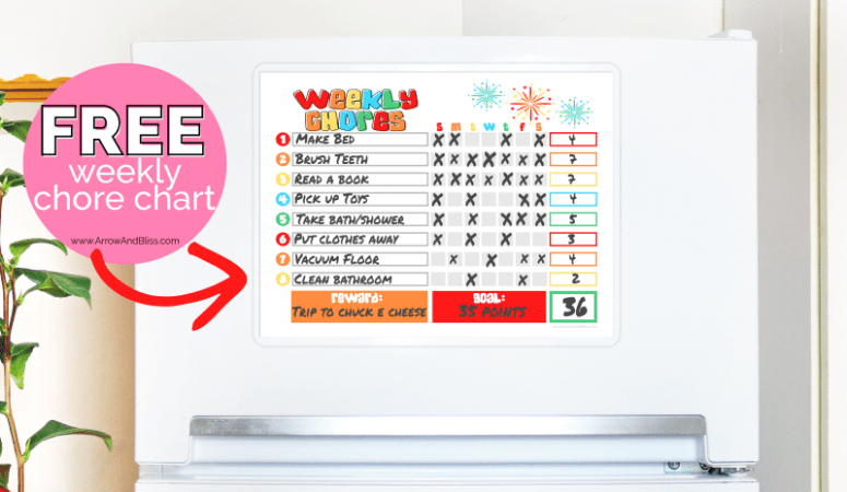 Free Weekly Chore Chart for Kids