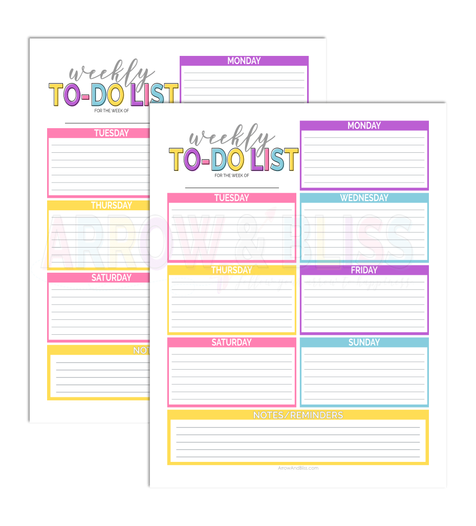 photograph regarding Free to Do List Printables named Working day 4: Cost-free Weekly Toward-Do Listing