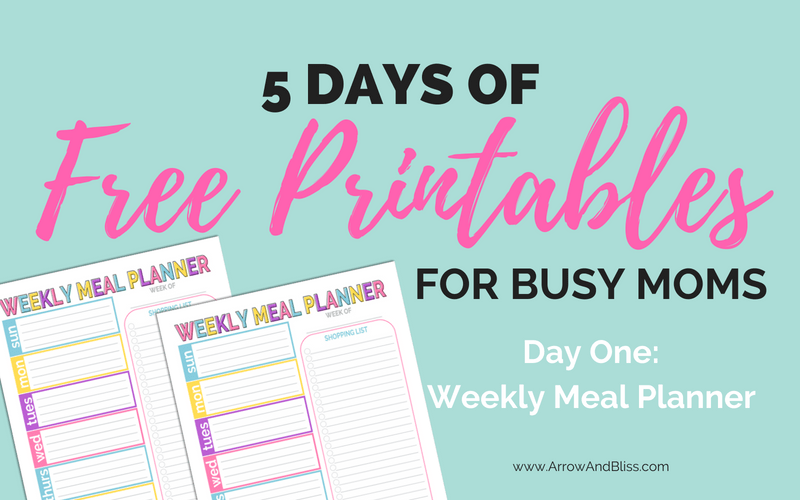 DAY 1: Weekly Meal Planner