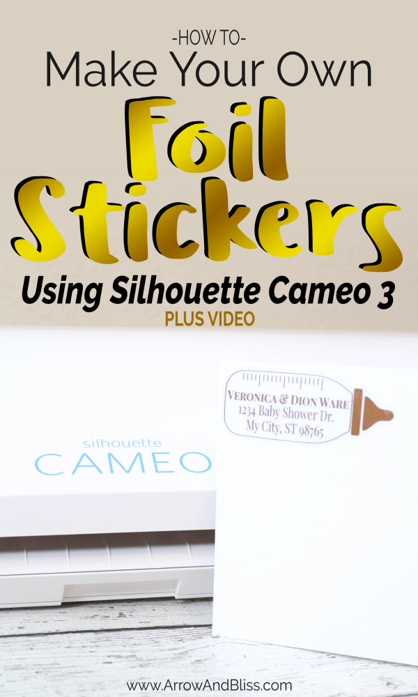 Click Here to learn how to create your own foil stickers and labels using a laminator and your silhouette cameo!