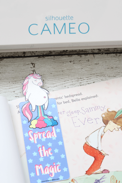 Grab this FREE chubby unicorn printable bookmark plus FREE Silhouette cut file from Victoria Shari at Arrow and Bliss.