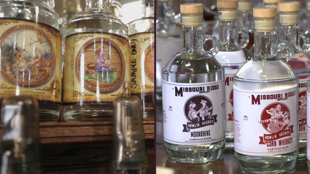 Before and After of Missouri Distillery Branding