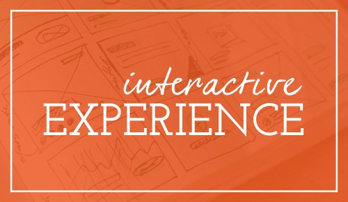 Image that says interactive experience