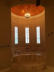Master Bath Chandelier Installation