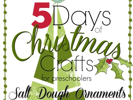 Five days of Christmas crafts. Day one is salt dough thumbprint ornaments.