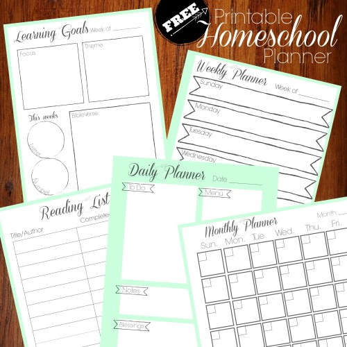 Get organized in the new year with our new free printable homeschool planner.
