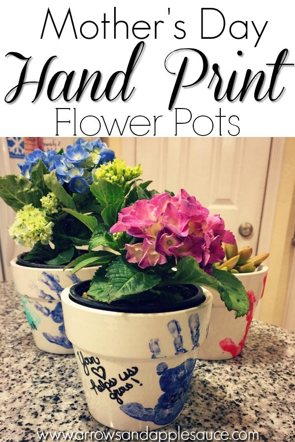 Arrows \u0026 Applesauce & DIY Hand Print Flower Pots - Arrows \u0026 Applesauce