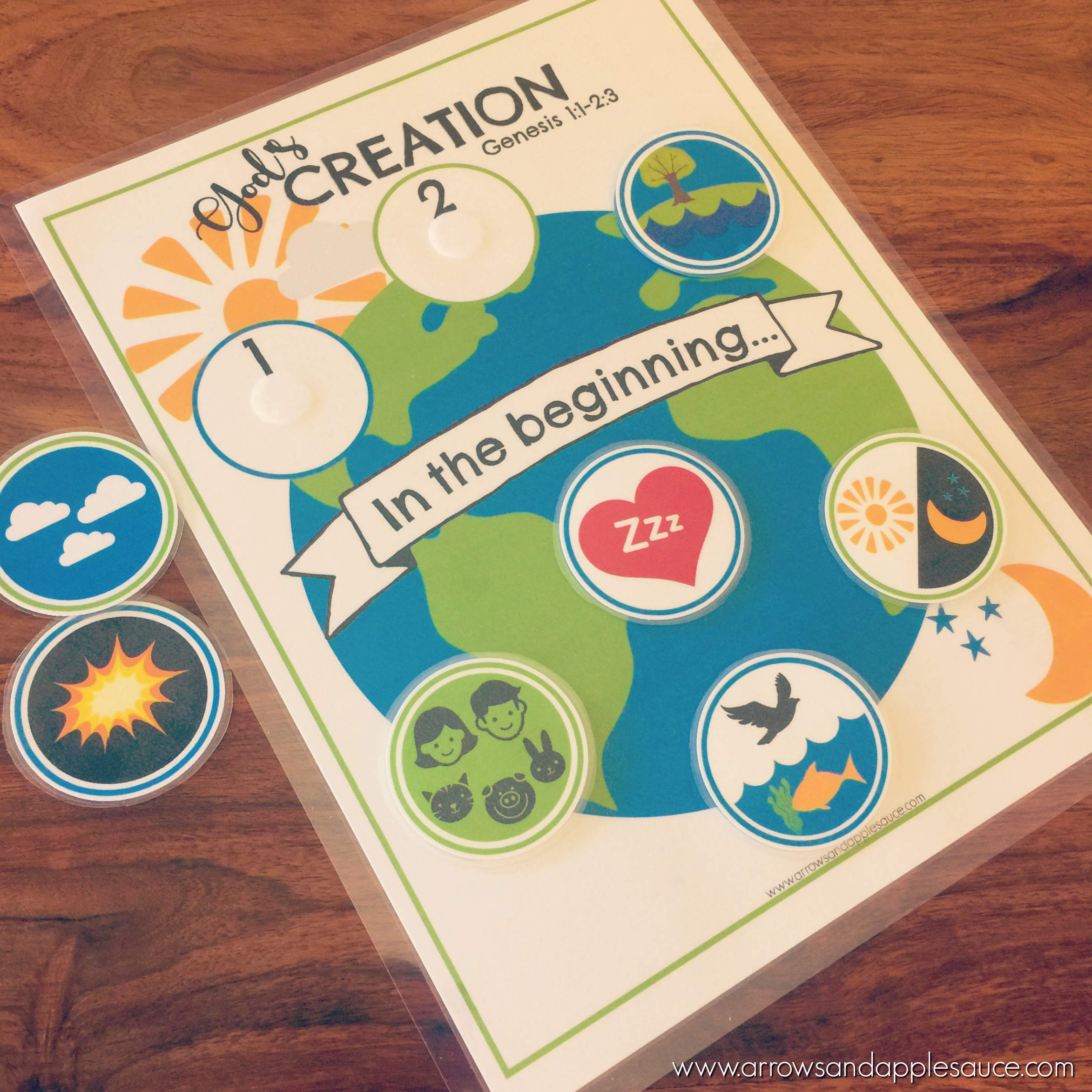 7 Days Of Creation | PRINTABLE Matching Game - Arrows & Applesauce