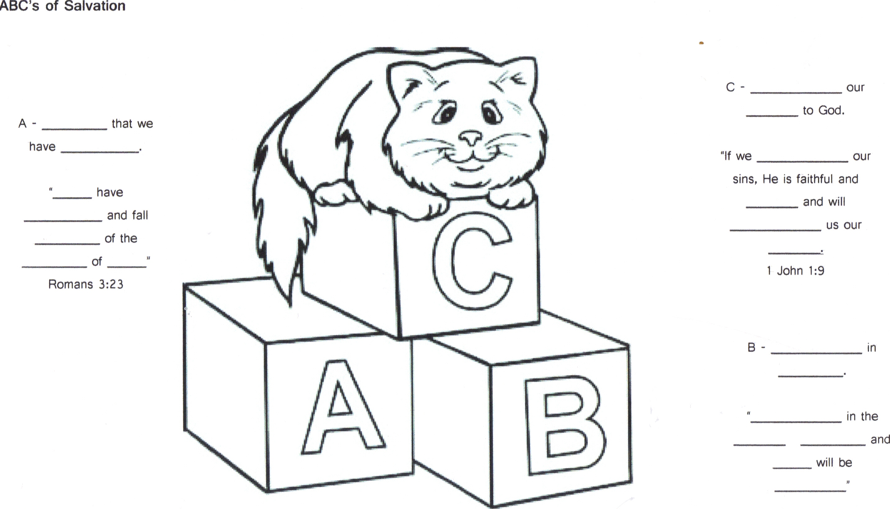 Abc Salvation Worksheet