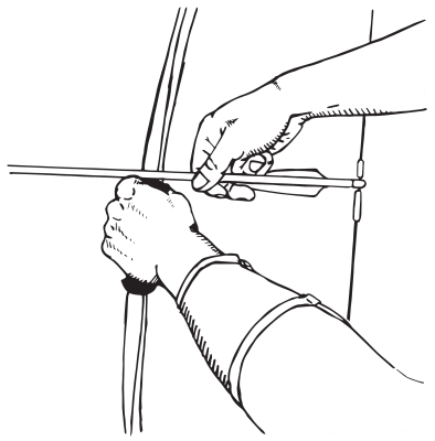 how to shoot a recurve bow - nocking an arrow