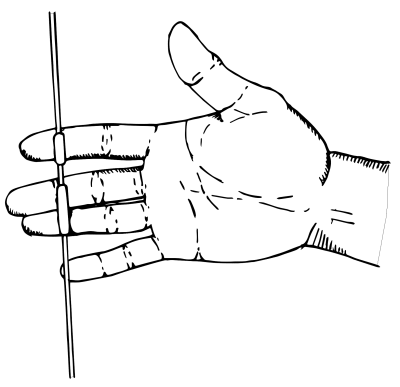 how to shoot a recurve bow - hooking the arrow