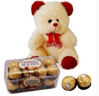 Teddy Bear filled with chocolates