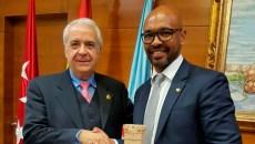 Carlos Ruipérez con Marcos Senna #ValoresParaGanar LFP y Ayuntamiento de Arroyomolinos