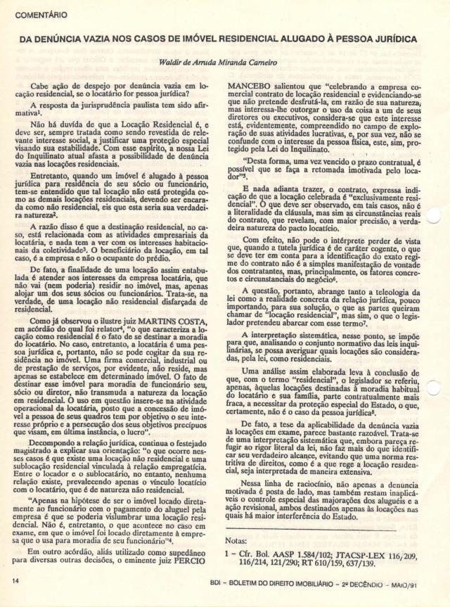 1991-05_DaDenunciaVazianosCasosdeImóvelResidencialAlugadoàPesso