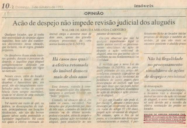 (1993-10-03)AcaodeDespejoNaoImpedeJornal_EDITADO