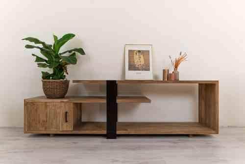 Open, organische, rustig, speels Industrieel tv meubel hout Ars-Longa (2)