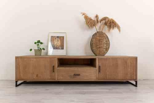 praktisch Industrieel tv meubel hout Ars-Longa