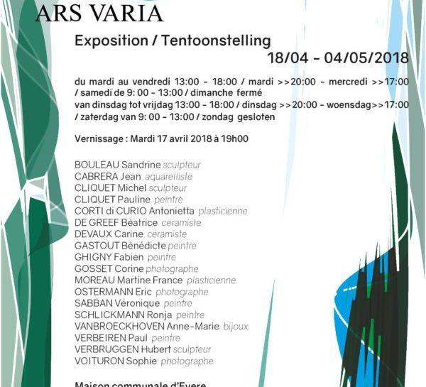 Ars Varia organise la 6e Biennale d'Art Contemporain à Evere