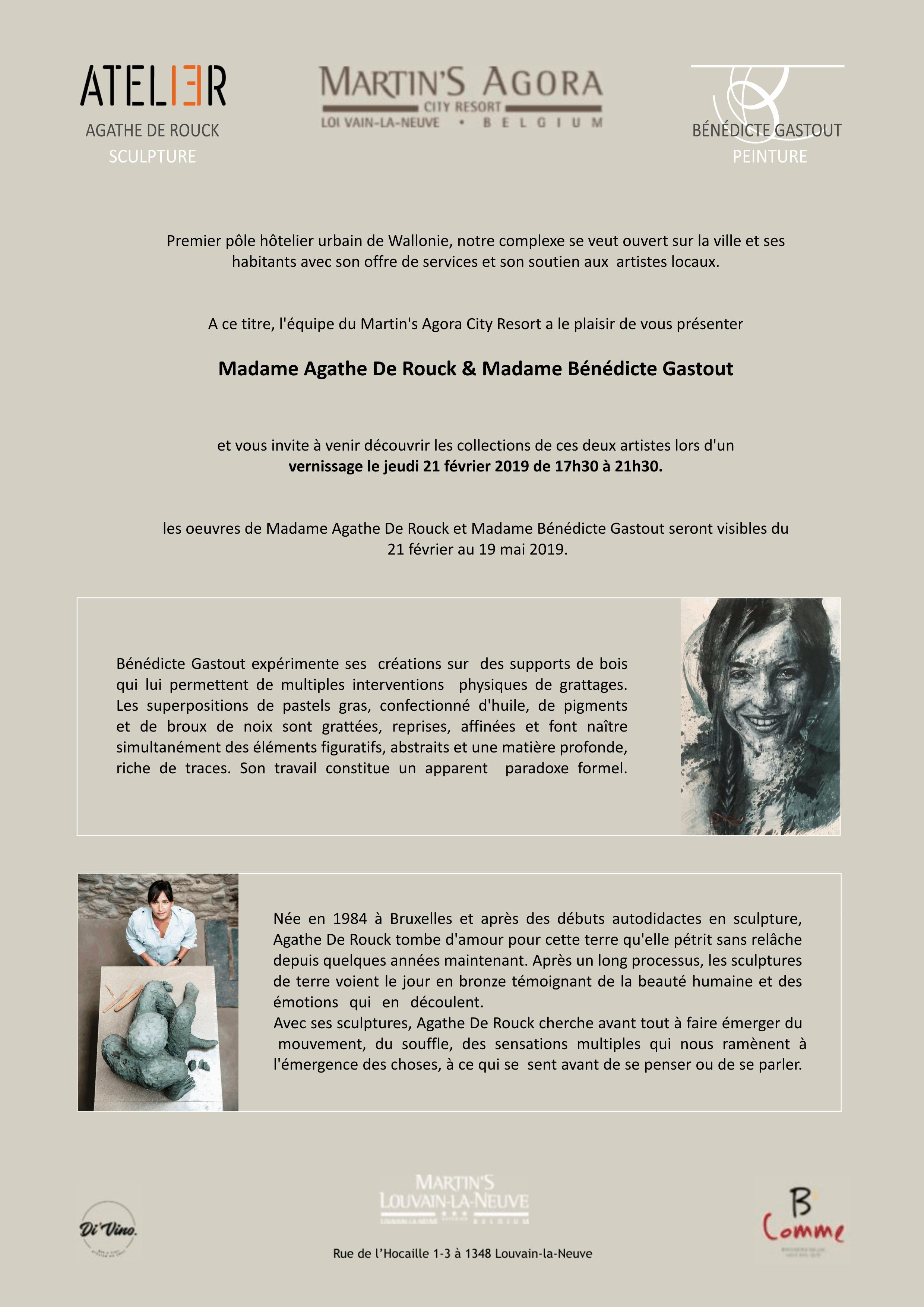 Bénédicte Gastout expose du 21 février au 19 mai à Louvain-la-Neuve
