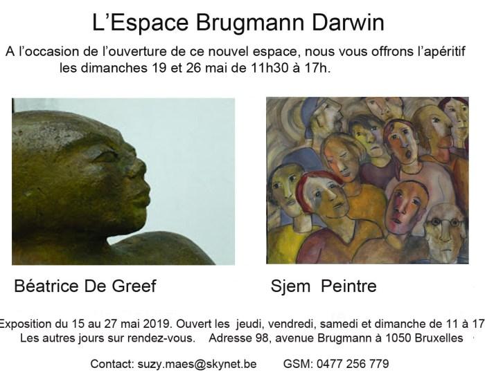Béatrice De Greef expose à l'espace Brugmann Darwin du 15 au 25 mai