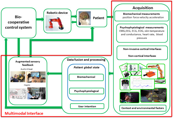 Computational schema of the proposed bio-cooperative system for upper limb ...