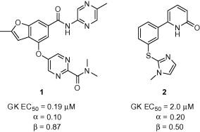 Glucokinase activators 1 and 2.