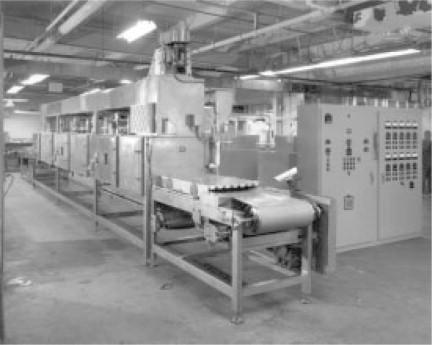 industrial microwave heating of food