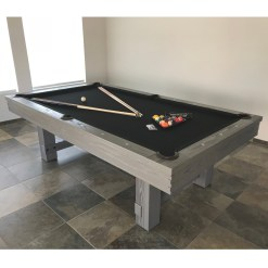 grey rustic pool table