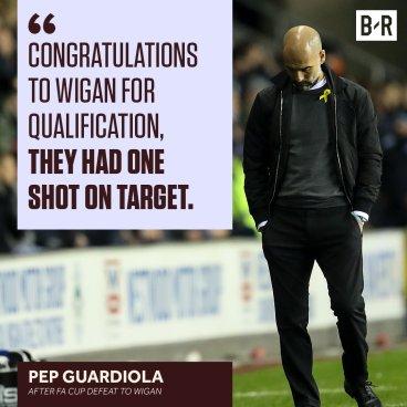 Guardiola on wigan